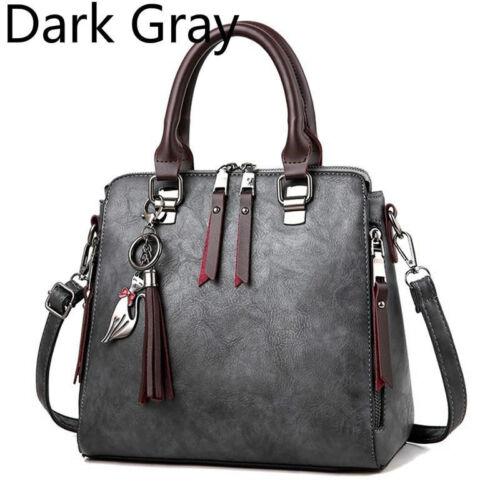 Tassel PU Leather Messenger Crossbody Satchel Shoulder Bag Tote Purse Handbag H