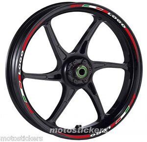decal sticker kit wheel stripes tricolore for MV Agusta F4