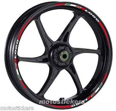 Adesivi Cerchi MV AGUSTA BRUTALE Kit ruote modello tricolore corto