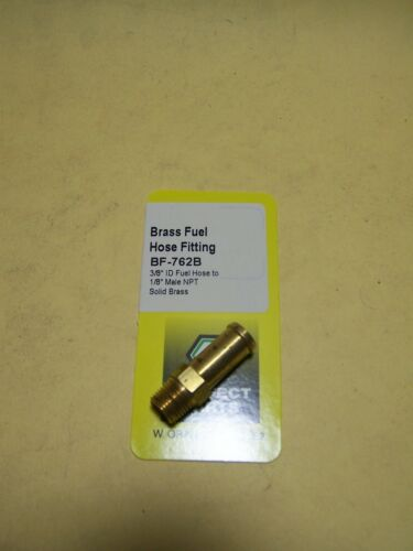 "Brass Fitting Fuel hose fitting 3//8/"" ID hose to 1//8/"" male NPT"