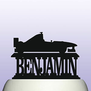 Personalised Acrylic Racing Car Birthday Cake Topper Decoration