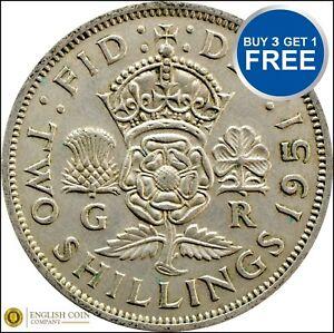 1937-1951-George-VI-Argent-florins-Deux-shillings-choix-de-date