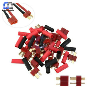 RC-Lipo-Bateria-20-Ultra-Plug-Conector-Decanos-Estilo-T-Macho-Hembra-20-Tubo-Retractil