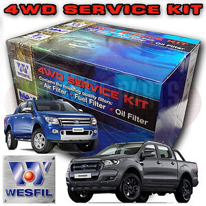 4WD-AIR-OIL-POLLEN-FUEL-FILTER-SERVICE-KIT-FOR-FORD-RANGER-PX-3-2L-2-2L-2011-On
