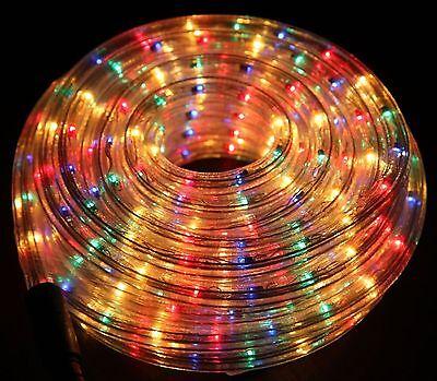 Nuovo Multicolore Led Luce Fune Indoor Outdoor Christmas Xmas Per Giardino Statico Flash-mostra Il Titolo Originale