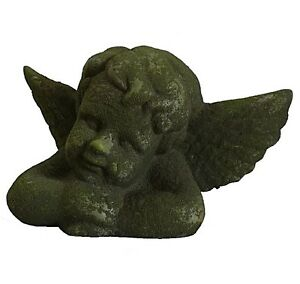 style-ancienne-statue-sculpture-en-terre-cuite-tete-d-ange-cherubin-angelot