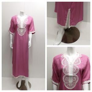 Kaftan Maxi Dress Moroccan Abaya Dubai Long Arabian Farasha Eid one size 8-24 UK