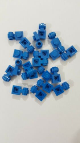 Lego blue plate 4081b modified 1x1 with clip light-thick ring ,20 parts