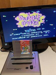 100-WORKING-NINTENDO-NES-RARE-FUN-PUZZLE-GAME-Cartridge-BUBBLE-BOBBLE