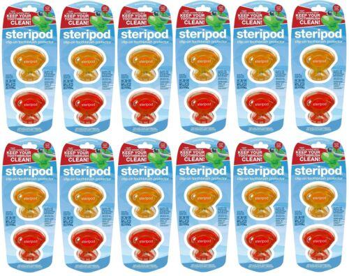 Steripods Brosse à dents Protecteurs-Choix de couleurs bleu//vert//Clair//Rose//Rouge//Orange
