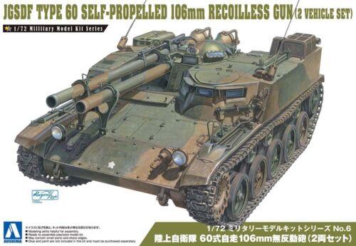 JGSDF Type 60 Self-Propelled 106mm Gun 2 Fahrzeuge 1:72 Model Kit Aoshima 007969