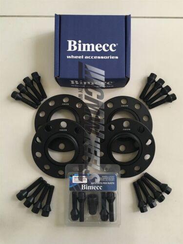 4 X 10 mm Negro Aleación Rueda Espaciadores Negro Pernos Cerraduras-BMW E90 E91 E92 E93