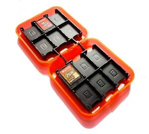 24-x-Nintendo-Switch-Orange-Game-Card-Case-Holder-UK-Seller