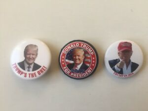 3-2016-Donald-Trump-for-President-Buttons-034-TRUMP-039-S-THE-ONE-034-034-Trump-in-2016-034