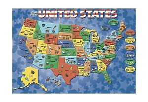 Cardinal Industries USA Map Puzzle Free Shipping | eBay
