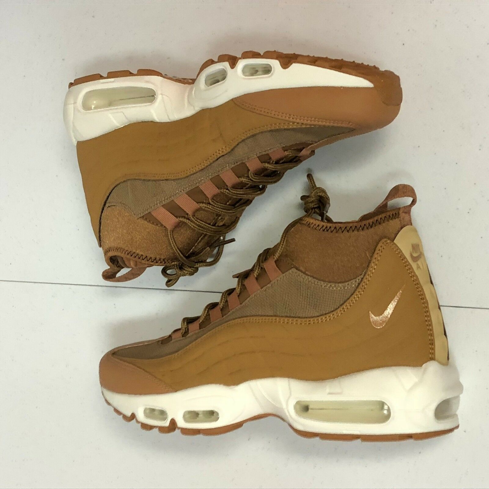 Nike Air Max 95 Sneakerboot Wheat Flax NO  806809-201 Size 8 NO Flax BOX TOP 02f406