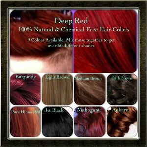 Natural Organic Chemical Free Henna Hair Dye Color Essential Oil