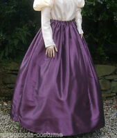 Ladies SKIRT Victorian / Edwardian costume gentry fancy dress , aubergine