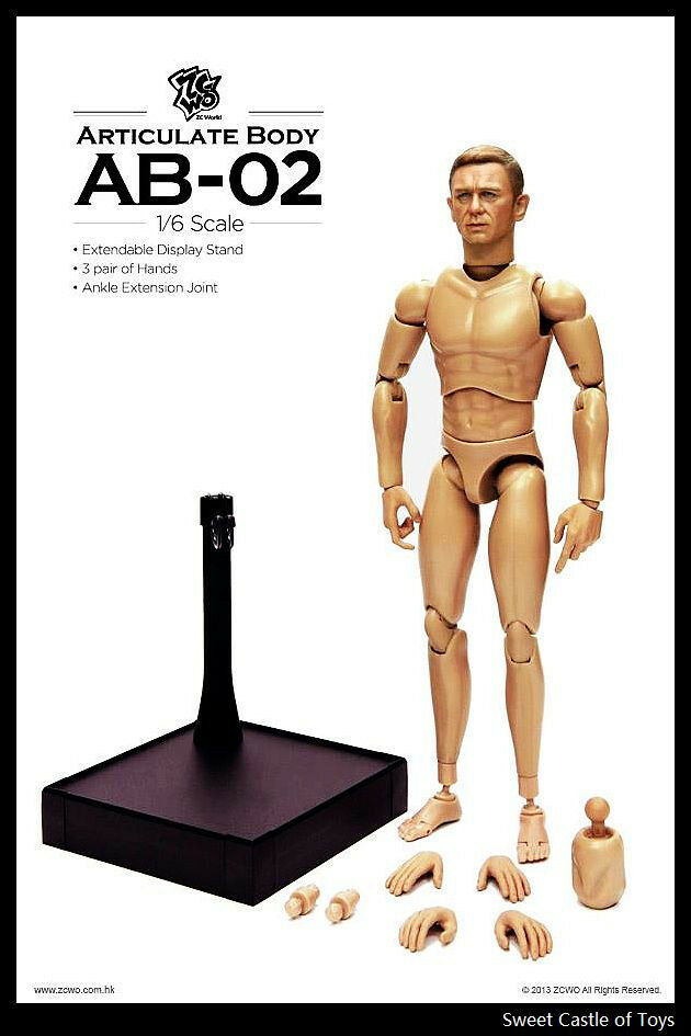 1 6 ZC Girl ZCWO Accessory Set Articulate Body AB-02 Agent James For HT DAM