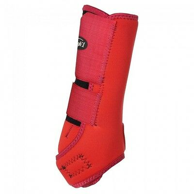 Tough-1 Economy Horse Vented Sport Boots Front Medium/ Red