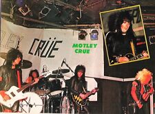 MOTLEY CRUE stage shot Kerrang magazine PHOTO/Poster/clipping 11x8 inches