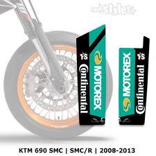 KTM MOTOREX Gabelprotektoren Dekor - fork sticker DECALS || SMC 690R 2008-2013