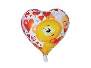 Ballon-Feuille-Coeur-Amour-Ourson-D-039-Helium-Saint-Valentin-Anniversaire