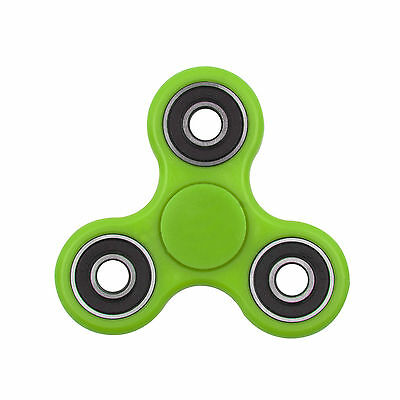 Fidget Toy Hand Finger Spinner Tri-Spinner Desk Focus Green Free Delivery