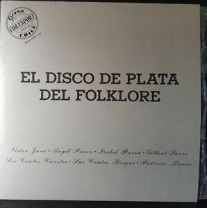Scheibe-33-Time-El-Disco-De-Plata-Del-Folklore-Press-Chile