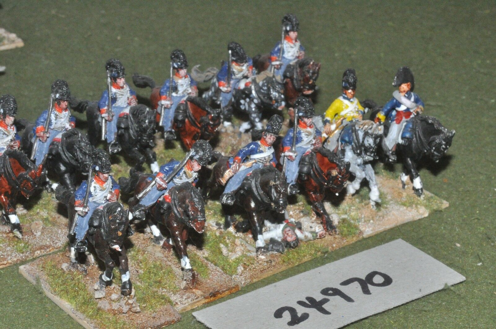 25mm napoleonic   british - light dragoons 12 figures - cav (24970)