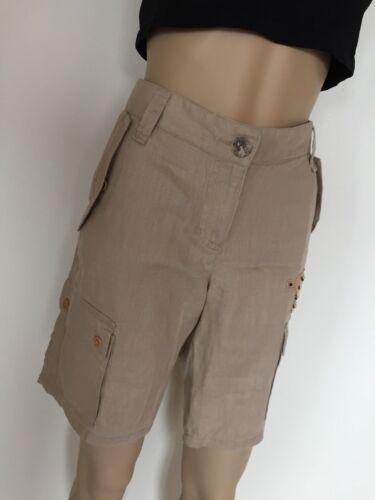 con piatto Sahara Azria perline Bcbg lino Nuovi colore 8 marrone Shorts taglia Max PUzx6vCzq