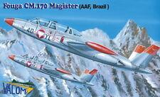 Valom 1/72 Model Kit 72091 Fouga CM.170 R Magister Decals Austria and Brazil