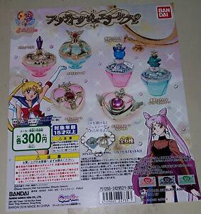 Bandai Sailor Moon Antique Jewelry Case 2 Gashapon set of 6