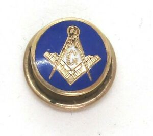 Masonic-14K-Yellow-Gold-Enamel-Pin-0-7-grams-1-2-lot-36f7