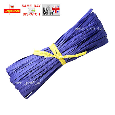 1 50 100m PURPLE COLOR Raffia Paper Gifts Ribbon Decorating Scrapbook FAST CHEAP