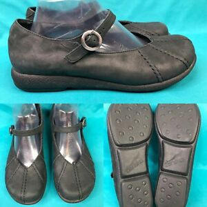 Womens-DANSKO-A06-30-Black-Nubuck-Mary-Janes-Loafers-Shoes-SIZE-40-US-9-5-10