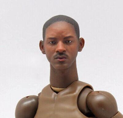 Unpainted 1//6 Scale Will Smith Head Sculpt Fit 12/'/' Figure Male Body