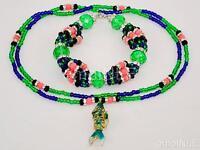 Inle Ilde Santeria Ifa Orisha Bracelet & Collar Idde Mazo Glass Beads Erinle