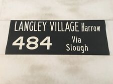 "Windsor Vintage Linen Bus Blind 36"" Langley Village Harrow 484 Via Slough"