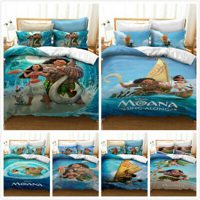 Kids Moana 3d Printing Bedding Set, Moana Queen Size Bed Sheets
