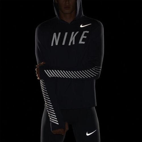 Nike Dry Running Flash Miler Reflective Hoodie In Black or Blue 858077
