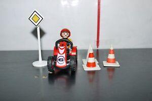 Figure Playmobil Kid with Go Kart