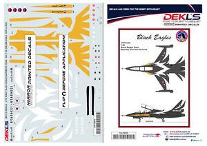 Decals-T-50-Golden-Eagle-ROKAF-Black-Eagles-Aerobatic-Team-Decals-1-72-Scale