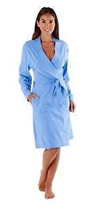Summer Dressing Gown Ladies Soft Jersey Kimono Style Robe Bathrobe