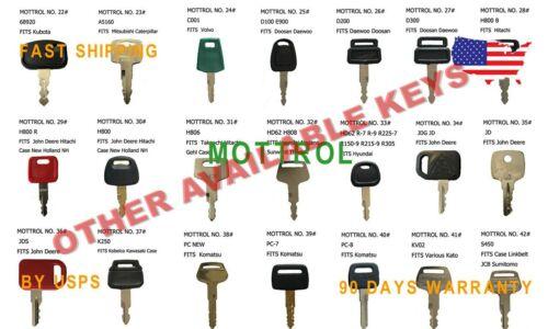 KEY SET 4# 10PCS 5P8500,166,8398,H800 RED,K250,JDS,PC200-7,S450,D250,83353
