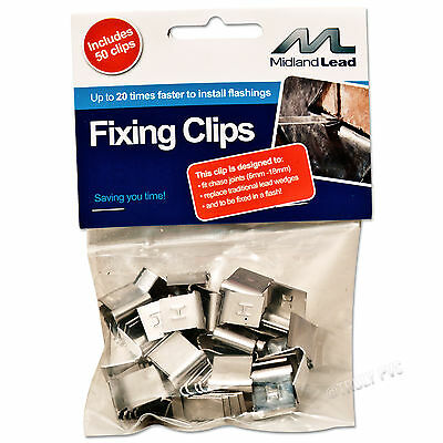 LEAD FLASHING FIXING CLIP HALL CLIPS EASY FLASH FIX REPAIR FOR ROOF / ROOFING