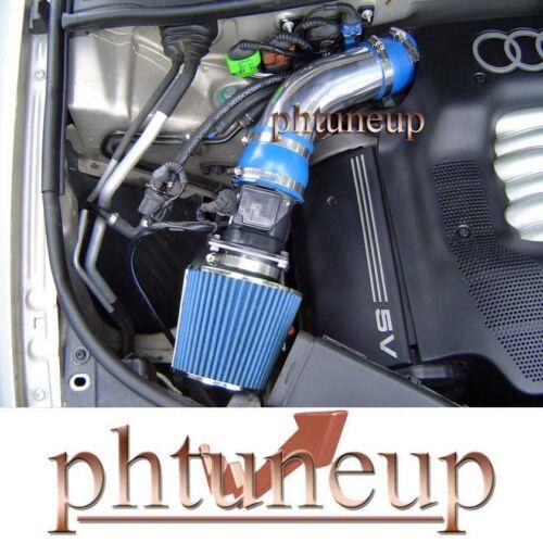 1994-2001 AUDI A4 A6 QUATTRO CABRIOLET 2.8 2.8L V6 AIR INTAKE KIT SYSTEMS BLUE