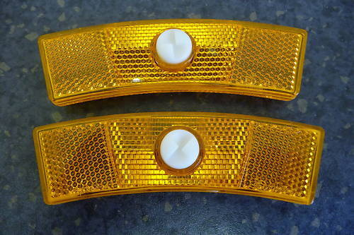 REFLECTORS Pair Yellow Old school style Retro vintage wheel bicycle bike bmx