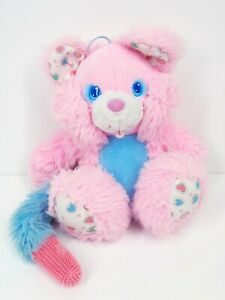 Vintage 1980s BRUSH A LOVES BEAR Pink Plush Beauty Berry Tyco