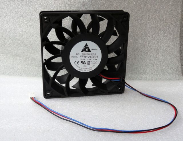 Delta WFB1212H 120mm x 25mm High Airflow Server Grade Fan 3 Pin Made in Thailand